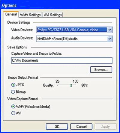 Video Edit Magic Capture Options