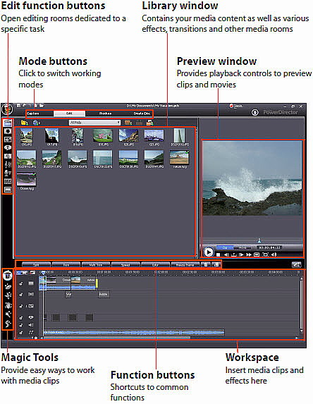 cyberlink powerdirector slideshow templates - powerdirector 7 is a video editing and production software